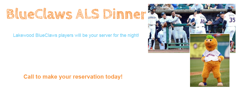 ALS DINNER With LAKEWOOD BLUE CLAWS